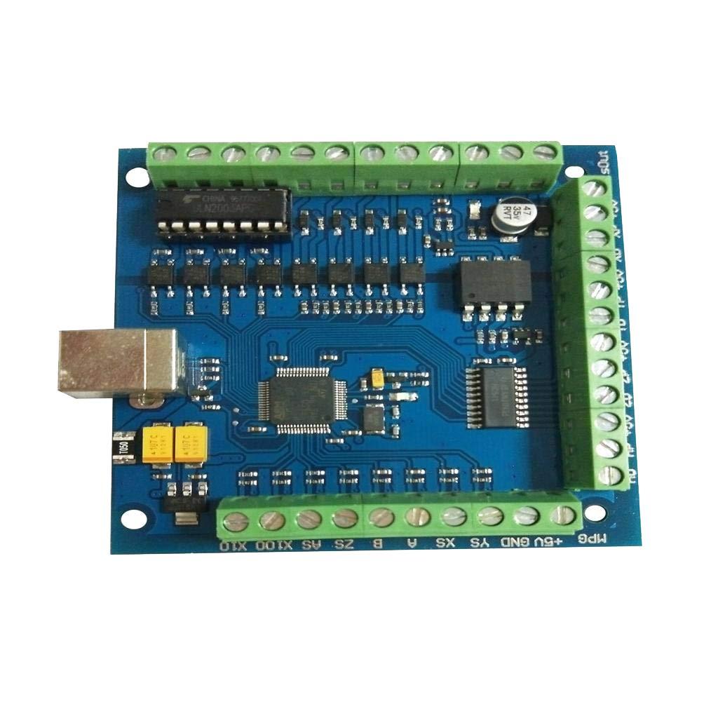 perfk CNC MACH3 USB 4Axis 100KHz Smooth Stepper Motion Control Card Breakout Board