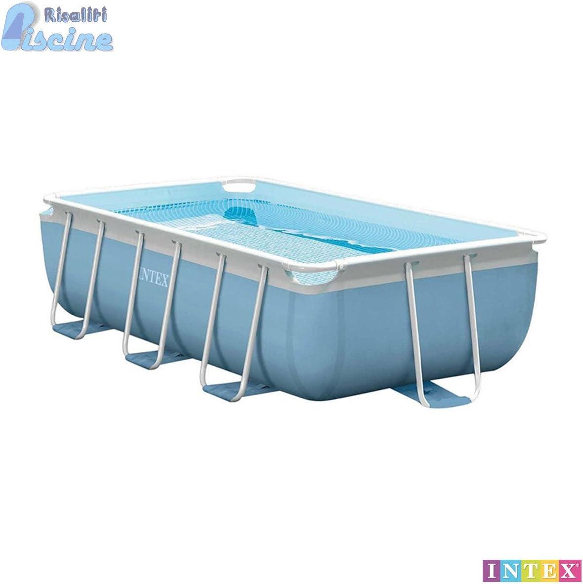 26772 piscina Prism Metal Frame rectangular cm 300 x 175 x L080, Bomba Filtro de cartucho de 2006 l/h y escalera: Amazon.es: Jardín