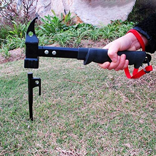 Construction and decoration 1 Pc Outdoor Tent Hammer Tent Pegs Rubber Coverd Forged Steel Multifunction Hanmmer Robust and good wear resistance