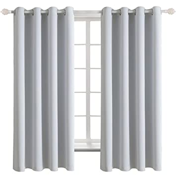 Bgment 2er Set Gardinen Vorhang Grau Weiß Blickdicht Mit ösendoppelpack Platinum Verdunkelungsgardine137 X 117 Cm H X Bleicht Schwere Vorhänge