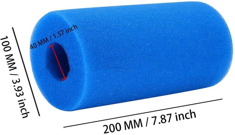 Cartucho De Repuesto De Esponja De Espuma De Filtro Lavable Reutilizable para Piscina heling896 Filtro De Piscina Esponja De Cartucho De Filtro para FiltroIntex Tipo H