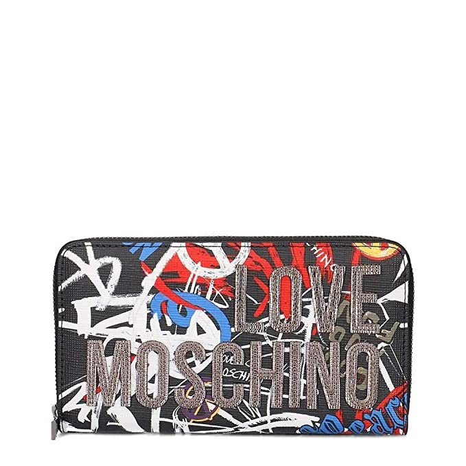 Love Moschino Accessories Graffiti Logo Zip Around Purse One Size MULTI: Amazon.es: Ropa y accesorios