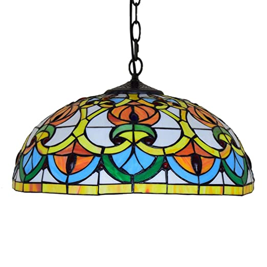40cm Chandelier European Creative Tiffany Stained Glass