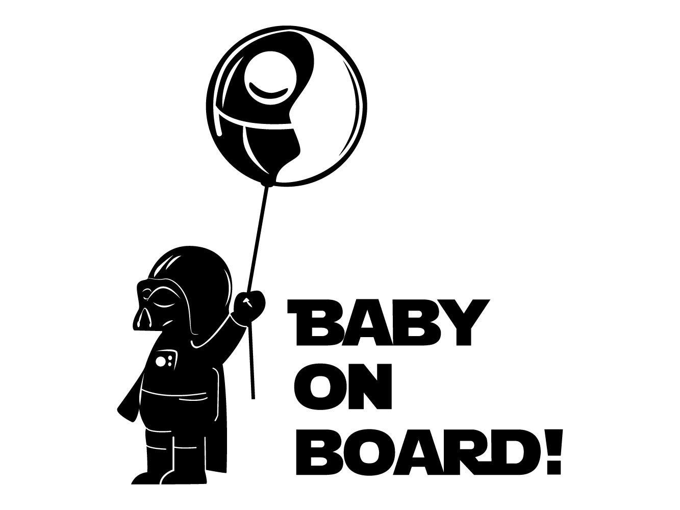Oedim Pegatina Baby on Board Globo Negro   20 x 20 cm   Adhesivo de Fácil Colocación   Pegatina para Coche Económica y Resistente