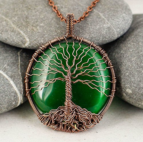 Handcrafted Tree of life necklace - Tree of life pendant - Family tree necklace - Protection amulet - Wire wrapped necklace - Handmade gift - Mothers day gift - Copper (2)