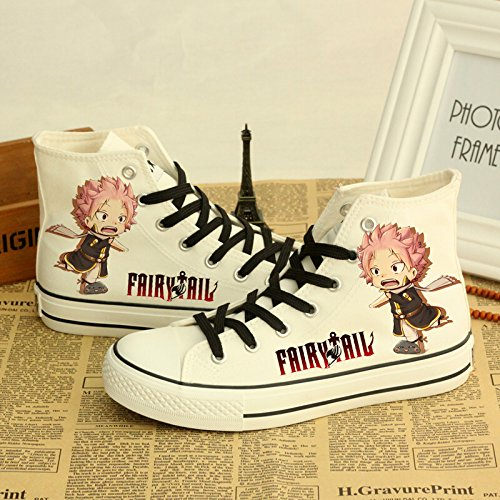Fairy Tail Canvas Sko Cosplay Sko Joggesko Hvit Hvit Tre