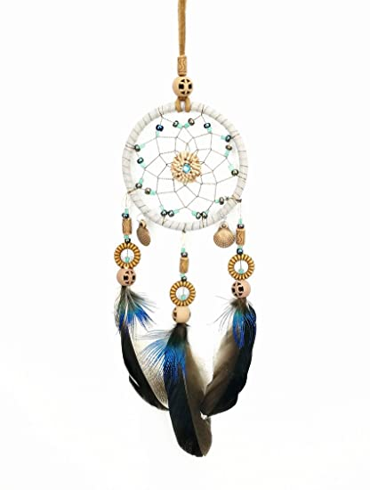 DrCor Small Dream Catcher for Car Rear View Mirror Decoration Hanging  Accessories Handmade Traditional Boho Chic 4b999ada02