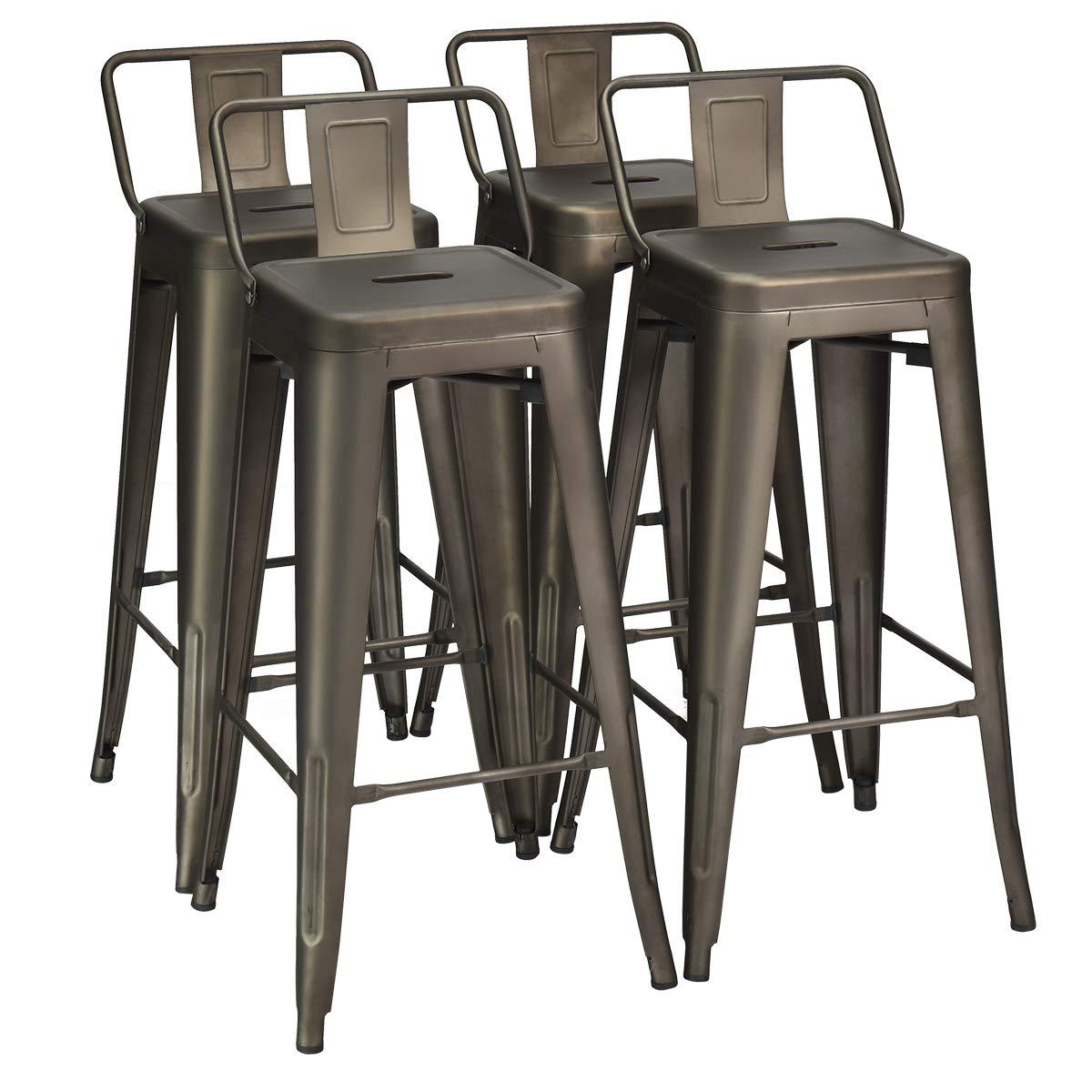PBQU5-OAK-W 5 PC counter height Dining set – counter height Table and 4 counter height stool.