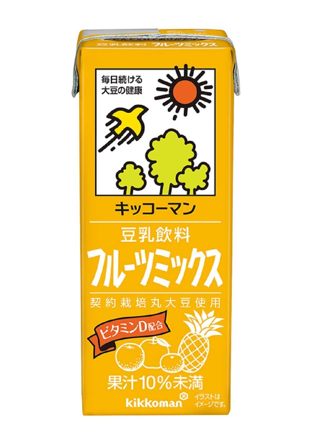 キッコーマンの豆乳飲料シリーズでカロリーが低い方に分類されるフルーツミックス味