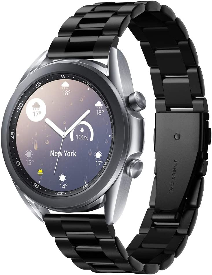 Spigen Modern Fit Designed For Samsung Galaxy Watch 3 41mm Band (2020) / Galaxy Watch Active 1&2 (2019) / Galaxy Watch 42mm (2018) / Gear S2 Classic, 20mm Smartwatch Band - Black