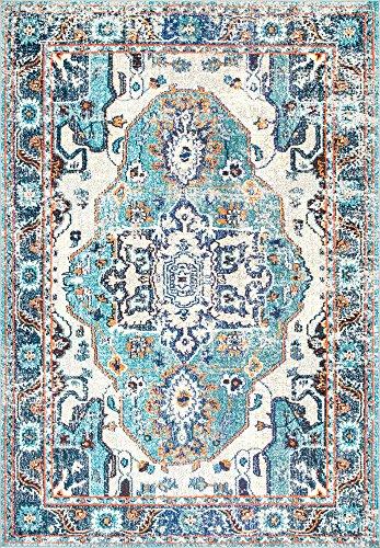 nuLOOM Corbett Vintage Boho Area Rug, 4 x 6 , Blue