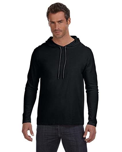 39dd15bc Anvil Lightweight Long-Sleeve Hooded T-Shirt at Amazon Men's Clothing store: