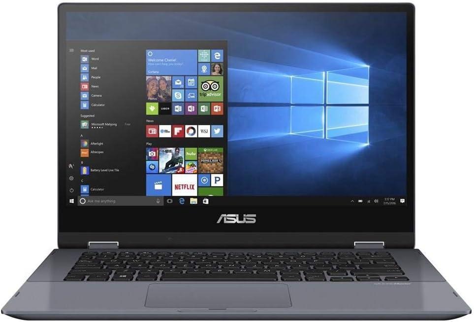 "Asus Vivobook Flip 14 Thin & Light 2-in-1 Touch Laptop, 14"" FHD Intel Core i7-8565U Processor, 8GB RAM, 512GB PCIe Nvme SSD, Windows 10 Home, Fingerprint Reader, TP412FA-DB72T, Star Grey (Renewed)"