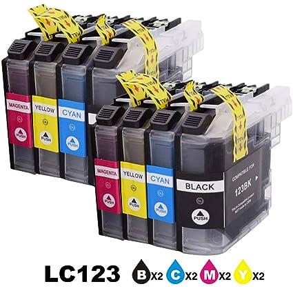 Paquete de 8 cartuchos de tinta de repuesto para impresoras ...