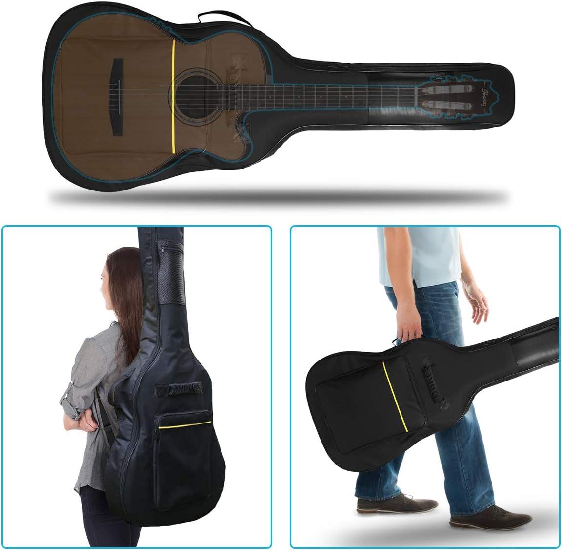 NASUM Funda para Guitarra 41 Pulgadas Bolsa Negra de Guitarra ...