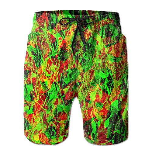 Neural Stem Progenitor Cells Mens Pocket Swim Trunks Athletic Quick Dry Beach Board Shorts X Large