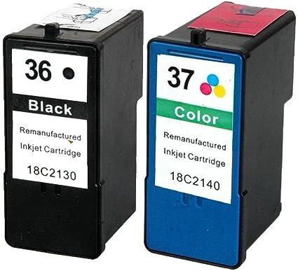 Karl Aiken 2 x Compatible Cartuchos de tinta de impresora Lexmark ...