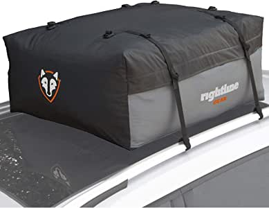 Rightline Gear Sport Jr Previous Model Car Top Carrier, 9 cu ft, 100% Waterproof, Attaches With or Without Roof Rack