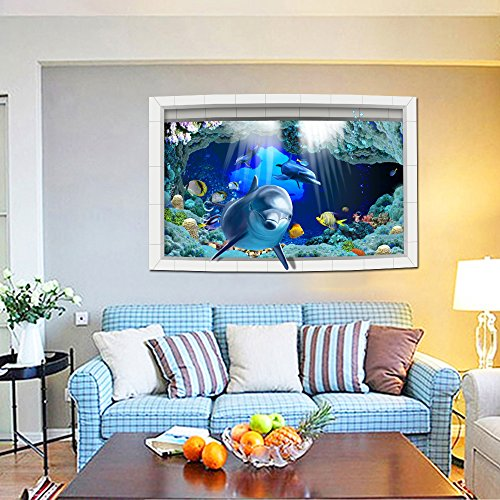 3D Style Shark Fishes Wall Sticker Paper Home Decal - 7