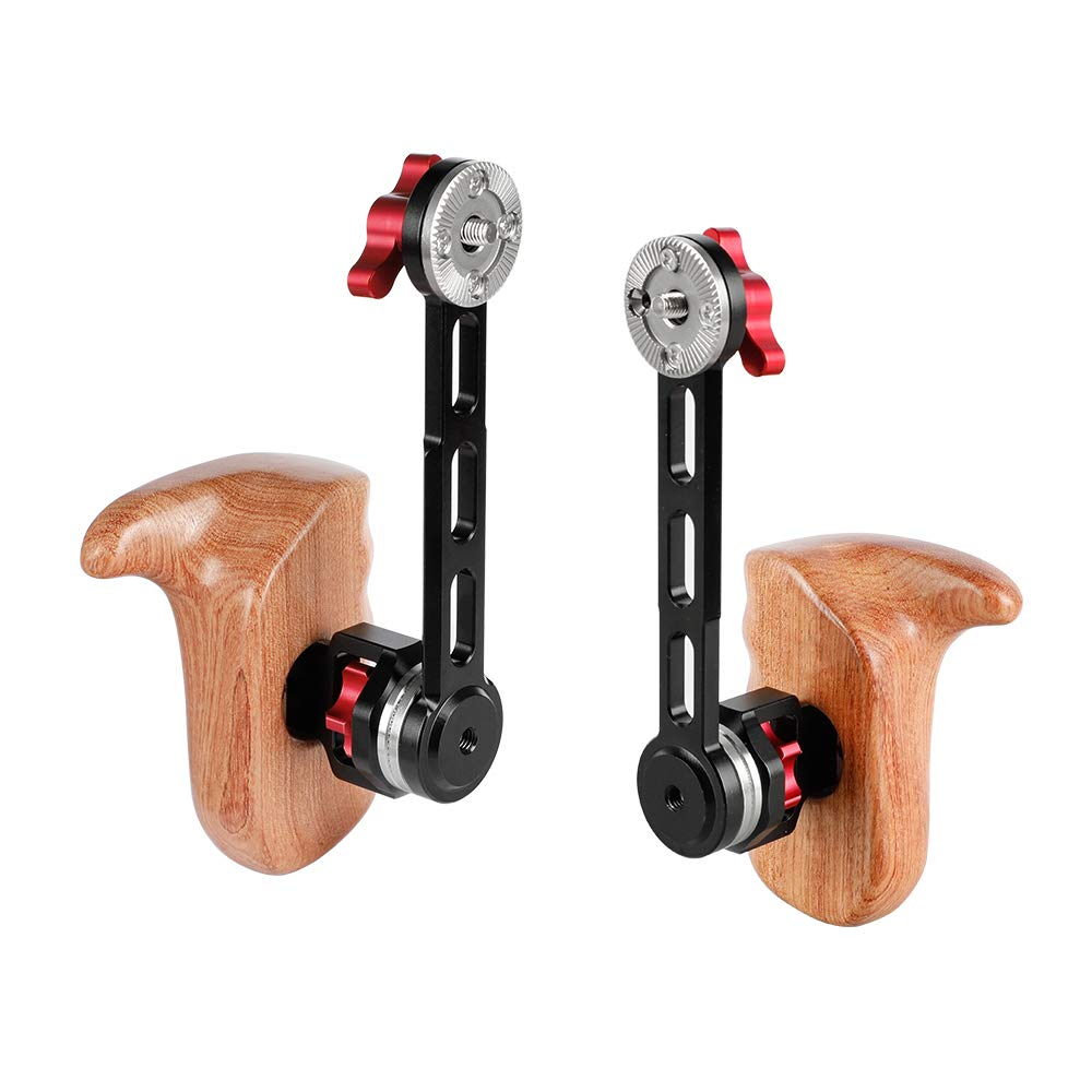 CAMVATE Wooden Handgrip with NATO Rail Rosette Extension Arm (1 Pair) by CAMVATE