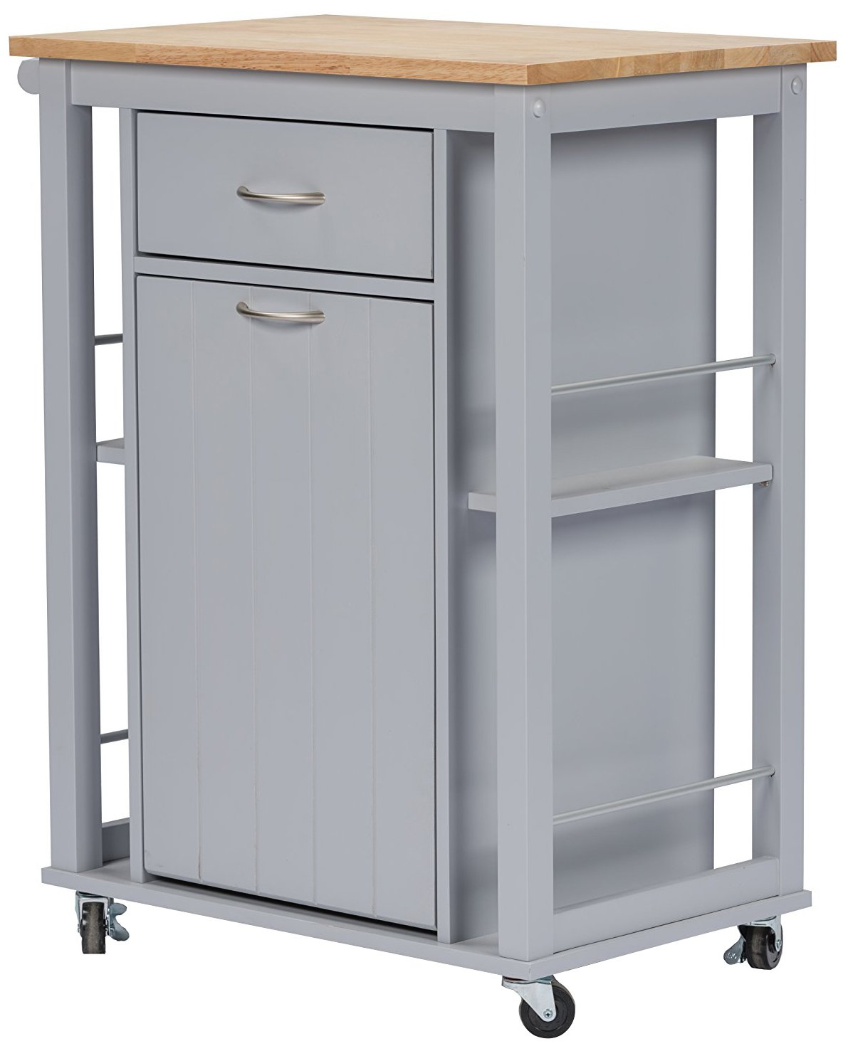 Baxton Studio Yonkers Kitchen Cart