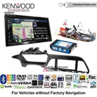 Volunteer Audio Kenwood Excelon DNX694S Double Din Radio Install Kit with GPS Navigation System Android Auto Apple CarPlay Fits 2015 Hyundai Sonata