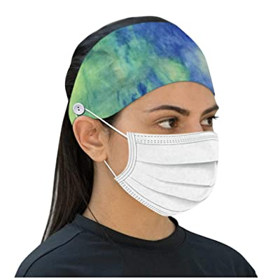 charts_DRESS Button Headband for Facecover,Tie-dye Headwear Protect Your Ears with This Headbandfor Doctors & Healthcare Workers (Mask not Included): Clothing