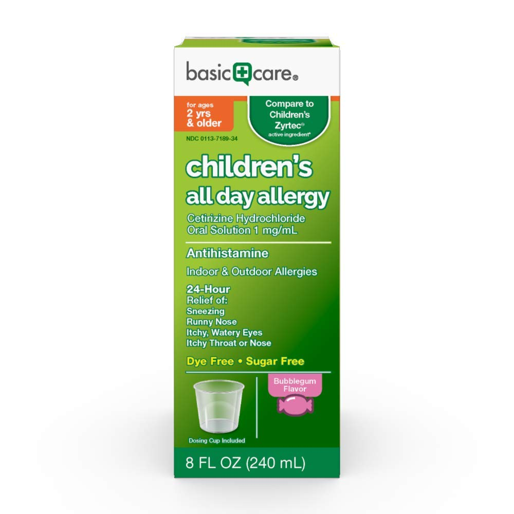 Basic Care Children's All Day Allergy, Bubble Gum