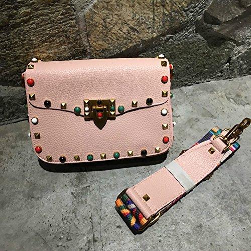Mini Ladies 18x14x7CM Crossbody Designer PU Pink New Bags Green Shoulder Messenger PU Dark bags 2017 Brand Colorful Handbag Fashion Autumn Women's Colorful bag Leather Crossbody Bags wpOvFqIUx