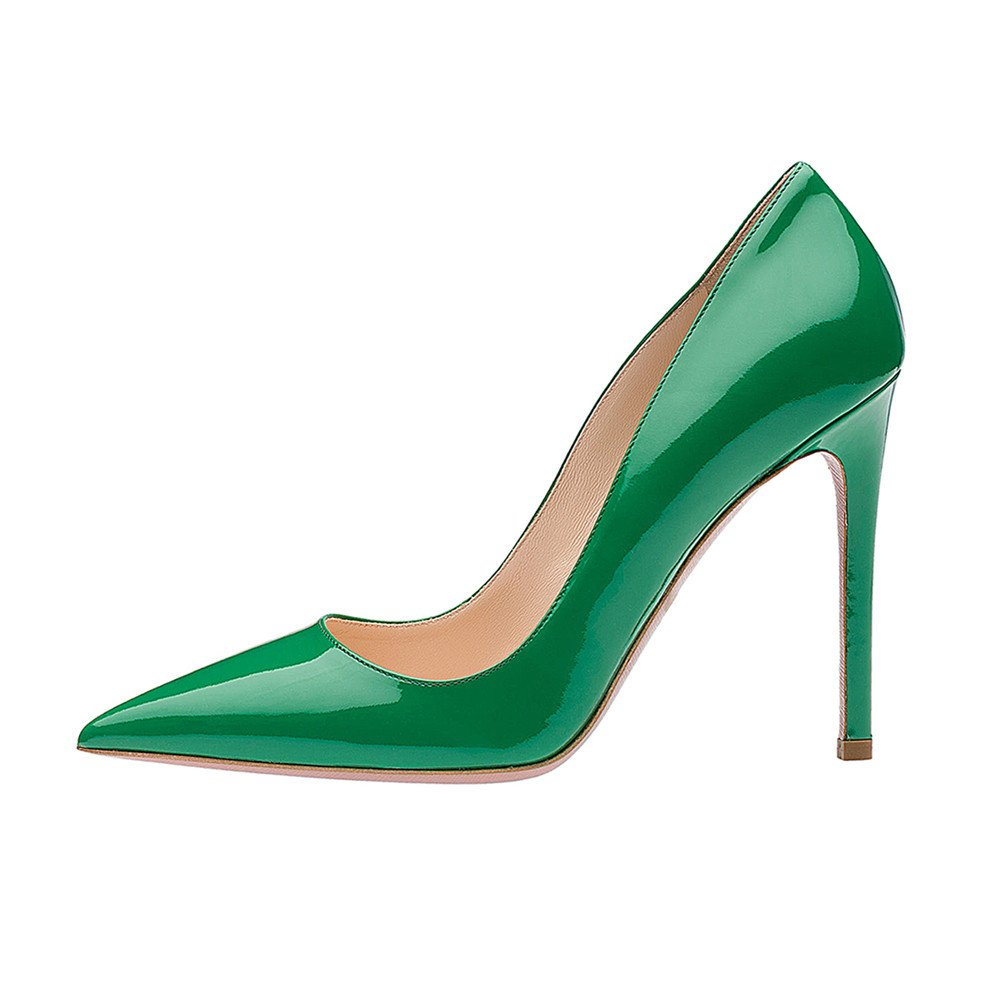 SexyPrey Women's Pointy Toe Stiletto Shoes Formal Office Evening Pumps B074M44NMJ 10 B(M) US|Green