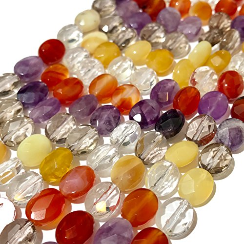 [ABCgems] Premier Gemstone Collections (Exquisite Color) 8x10mm Faceted Oval Beads for Beading & Jewelry Making