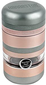 KANNASTOR GR8TR V2 Grinder - Premium Food Grade Quality Aluminum w/Screen Chamber - A 60 Mesh Easy Change Stainless Screen - Perfect for Herb Spices - Smooth Grind - Storage Lid
