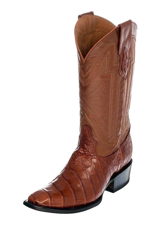 Ferrini Men's Alligator Belly Exotic Cowboy Boot Square Toe - 1077102