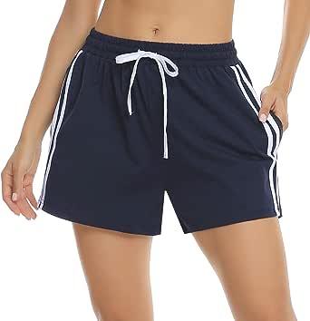 Hawiton Pantalones Cortos de Deporte para Mujer Pantalones Deportivos de Algodón Verano Fitness Jogging: Amazon.es: Ropa y accesorios