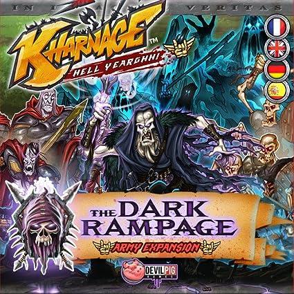 Amazon Com Fantasy Flight Games Kharnage The Dark Rampage Toys