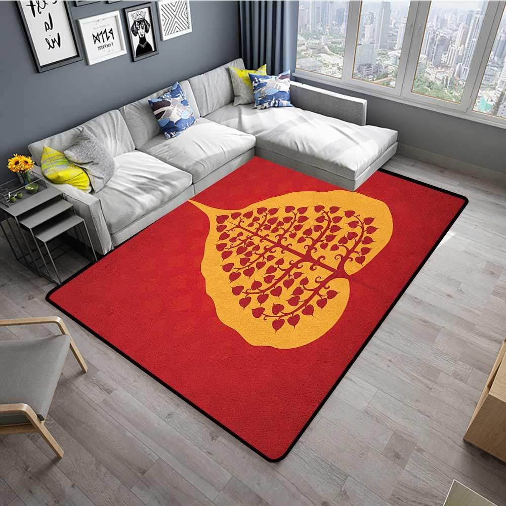 Amazon.com: Leaf Decorative Floor mat Artistic Design of ...