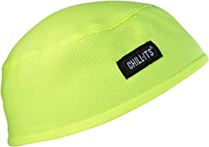 Ergodyne Chill-Its 6630 Absorptive Moisture-Wicking Skull Cap, Lime