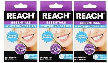 Amazon Com 3 Pack Reach Essentials Instant Teeth Whitening Strips