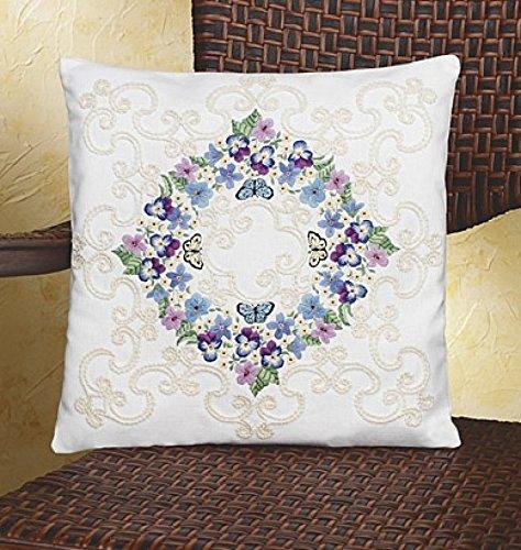 Janlynn Candlewicking Kit Floral Fantasy Pillow