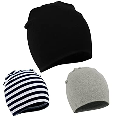 American Trends Toddler Infant Cotton Hat Unisex Knit Stretchy Baby Caps  Casual Newborn Kids Lovely Soft eb9242fca64d