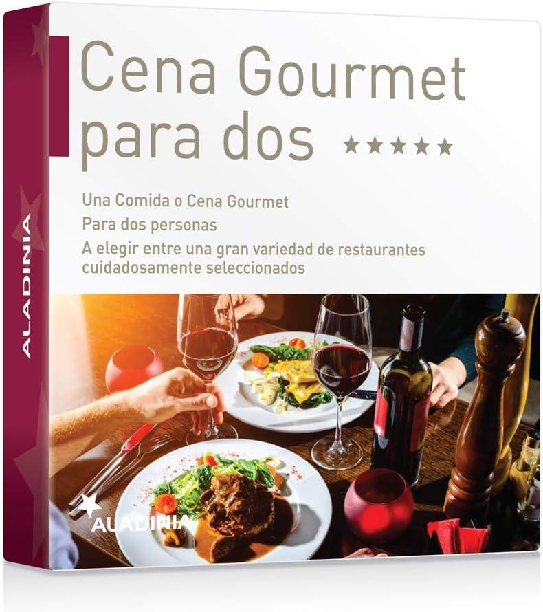 ALADINIA Box Caja Regalo Pack Cena Gourmet para Dos con Validez ...