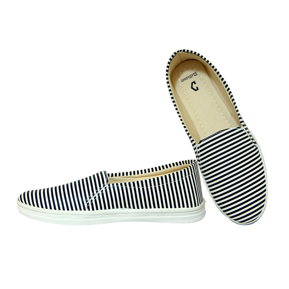Golden Stripes Casual Shoes for Girls