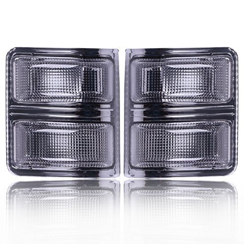 SCITOO Turn Signal Lenses 2PCS Smoke Amber Towing Mirrors Lens High Perfitmance Automotive Replacement Parts Turn Signal Lights fit 2008-2016 Ford Super Duty F250 F350 F450 F550
