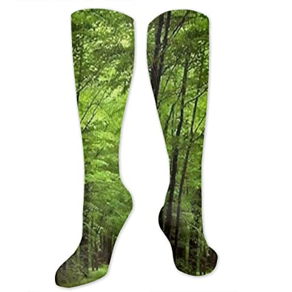 c1fcba1ea Amazon.com  Deep in The Forest Thick Green Compression Socks