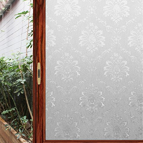 Viclover Self-Adhesive Window Film Privacy Sticker Glass Paper 35.43 inches by 78.74 inches (NO.DM35SG)