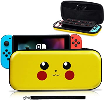 Funda para Switch, [Diseño para Pikachu/Pokemon][Estuche Protector Portátil ] Funda de Viaje Transportar para Switch Accesorios- Amarillo: Amazon.es: Electrónica