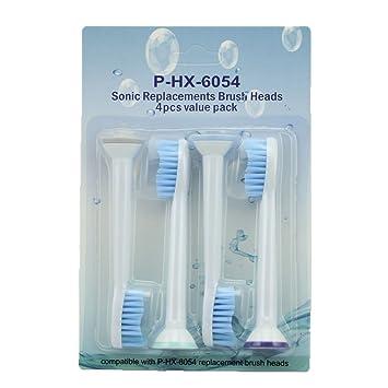 Pellet Genérico cepillo Recambio Cabezales para cepillo de dientes eléctrico Philips Sonicare estándar HX6054