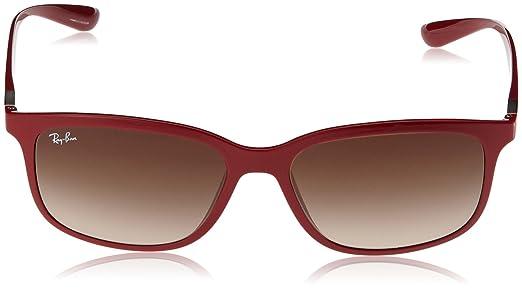 Ray-Ban RAYBAN Herren 0RB4215 612613 57 Sonnenbrille, Rot (Amaranth/Gradientbrown)