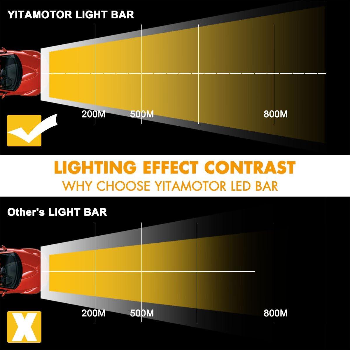 Yitamotor 40 cm incurvé Barre lumineuse pour camion, Jeep, SUV, Offroad  lumières Barre LED avec faisceau de câblage, 40 W 40 V – 40 40 lumens