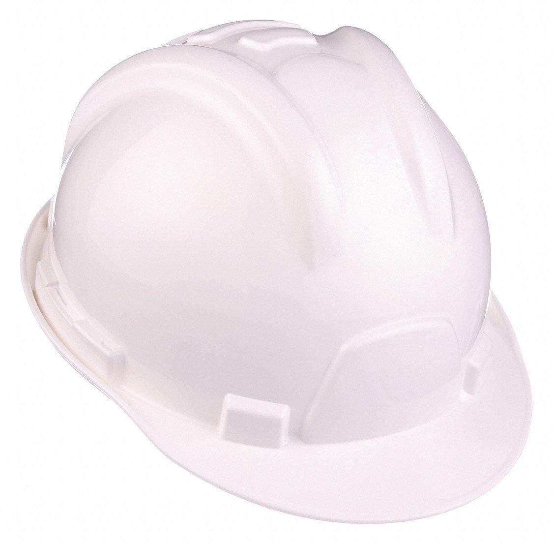 Hard Hat, White, Front Brim, 6 pt. Ratchet by TASCO